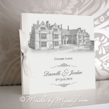 Coombe Lodge Pocketfold Wedding Invitation - Includes RSVP & Guest Information
